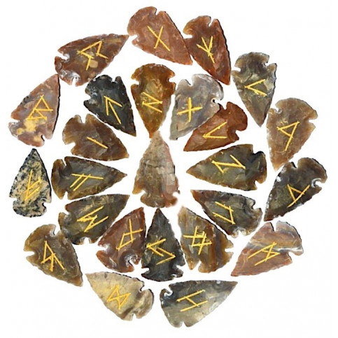 Agate Arrowheads Rune Set